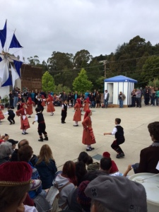 Young Greek dancers on the square!